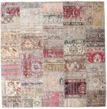 Patchwork - Persien/Iran Teppich  203X205 Echter Moderner Handgeknüpfter Quadratisch Hellgrau/Hellrosa (Wolle, Persien/Iran)