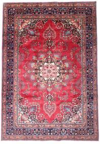 Maschad Teppich  203X290 Echter Orientalischer Handgeknüpfter Dunkellila/Rosa (Wolle, Persien/Iran)