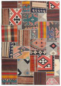 Tekkeh Kelim Teppich 141X201 Echter Moderner Handgewebter Dunkelrot/Hellgrau (Wolle, Persien/Iran)