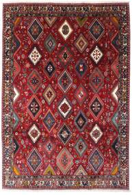 Yalameh Teppich 200X292 Echter Orientalischer Handgeknüpfter Dunkelrot (Wolle, Persien/Iran)