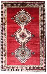 Ghashghai Teppich 120X185 Echter Orientalischer Handgeknüpfter Dunkelrot/Rot (Wolle, Persien/Iran)
