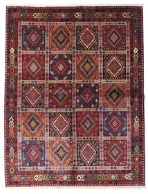 Yalameh Teppich  151X195 Echter Orientalischer Handgeknüpfter Dunkelrot/Helllila (Wolle, Persien/Iran)