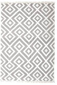 Bambus Seide Kelim Teppich  170X240 Echter Moderner Handgewebter Hellgrau/Weiß/Creme (Wolle/Bambus-Seide, Indien)