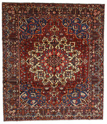 Bachtiar Teppich  310X358 Echter Orientalischer Handgeknüpfter Dunkelrot/Dunkelgrau Großer (Wolle, Persien/Iran)