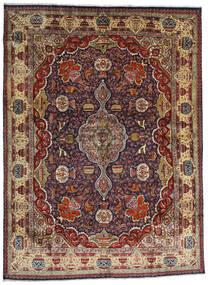 Kashmar Teppich  294X396 Echter Orientalischer Handgeknüpfter Dunkelrot/Dunkelbraun/Hellbraun Großer (Wolle, Persien/Iran)