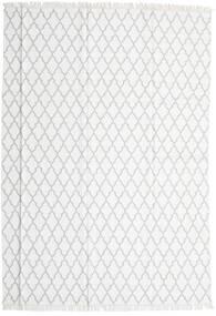 Bambus Seide Kelim Teppich  250X350 Echter Moderner Handgewebter Weiß/Creme/Hellgrau Großer (Wolle/Bambus-Seide, Indien)