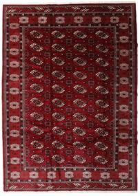 Turkaman Teppich 204X285 Echter Orientalischer Handgeknüpfter Dunkelrot/Dunkelbraun (Wolle, Persien/Iran)
