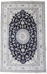 Nain Teppich  197X313 Echter Orientalischer Handgeknüpfter Hellgrau/Schwartz (Wolle, Persien/Iran)
