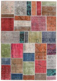 Patchwork - Persien/Iran Teppich 163X234 Echter Moderner Handgeknüpfter Hellgrau/Rost/Rot (Wolle, Persien/Iran)