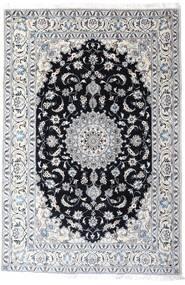 Nain Teppich  200X297 Echter Orientalischer Handgeknüpfter Weiß/Creme/Hellgrau (Wolle, Persien/Iran)