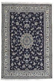Nain Teppich  164X242 Echter Orientalischer Handgeknüpfter Schwartz/Hellgrau (Wolle, Persien/Iran)