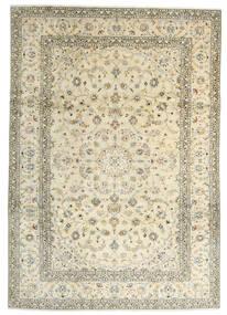 Keshan Teppich 241X342 Echter Orientalischer Handgeknüpfter Beige/Dunkel Beige (Wolle, Persien/Iran)