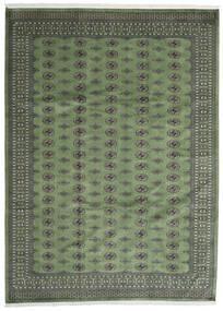Pakistan Buchara 2Ply Teppich  250X344 Echter Orientalischer Handgeknüpfter Dunkelgrau/Olivgrün Großer (Wolle, Pakistan)
