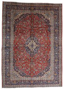 Keshan Teppich 287X403 Echter Orientalischer Handgeknüpfter Dunkelrot/Dunkelbraun Großer (Wolle, Persien/Iran)