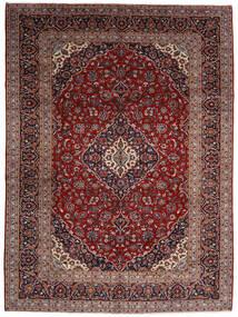 Keshan Teppich 294X400 Echter Orientalischer Handgeknüpfter Dunkelrot Großer (Wolle, Persien/Iran)