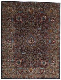 Kashmar Teppich  303X391 Echter Orientalischer Handgeknüpfter Dunkelbraun/Dunkelgrau Großer (Wolle, Persien/Iran)
