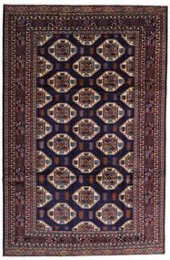 Turkaman Teppich  247X378 Echter Orientalischer Handgeknüpfter Dunkellila/Dunkelbraun (Wolle, Persien/Iran)