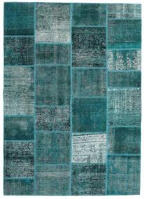 Patchwork - Persien/Iran Teppich 165X233 Echter Moderner Handgeknüpfter Dunkel Türkis/Türkisblau (Wolle, Persien/Iran)