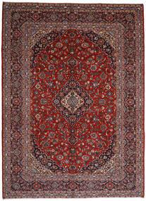 Keshan Teppich  297X409 Echter Orientalischer Handgeknüpfter Dunkelrot/Schwartz Großer (Wolle, Persien/Iran)