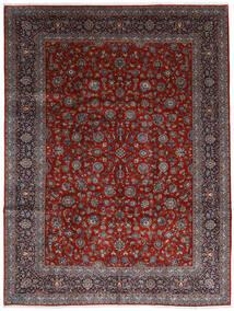 Keshan Teppich  278X367 Echter Orientalischer Handgeknüpfter Dunkelrot/Dunkelbraun Großer (Wolle, Persien/Iran)