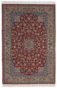 Isfahan Sherkat Farsh Teppich 200X300 Echter Orientalischer Handgeknüpfter Dunkelrot/Dunkelbraun (Wolle/Seide, Persien/Iran)