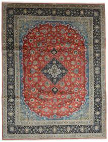 Keshan Teppich  296X388 Echter Orientalischer Handgeknüpfter Dunkelgrau/Dunkelgrün Großer (Wolle, Persien/Iran)