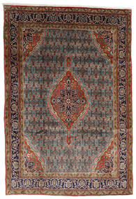 Bidjar Teppich  225X330 Echter Orientalischer Handgeknüpfter Dunkelbraun/Hellbraun (Wolle, Persien/Iran)