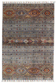 Shabargan Teppich  102X146 Echter Moderner Handgeknüpfter Dunkelgrau/Hellgrau (Wolle, Afghanistan)