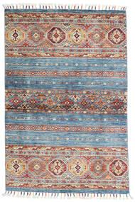 Shabargan Teppich  99X151 Echter Moderner Handgeknüpfter Hellblau/Hellgrau (Wolle, Afghanistan)