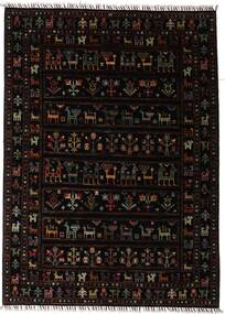 Shabargan Teppich  150X205 Echter Moderner Handgeknüpfter Dunkelbraun (Wolle, Afghanistan)