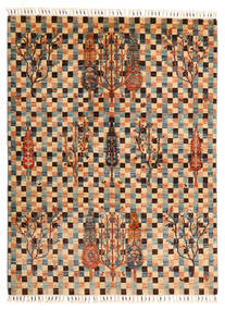 Shabargan Teppich  149X198 Echter Moderner Handgeknüpfter Hellbraun/Dunkelbraun (Wolle, Afghanistan)