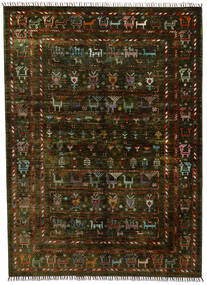 Modern Afghan Teppich  154X212 Echter Moderner Handgeknüpfter Dunkelbraun (Wolle, Afghanistan)