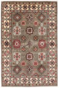 Kazak Teppich 121X181 Echter Orientalischer Handgeknüpfter Hellgrau/Hellbraun (Wolle, Afghanistan)