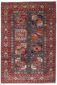 Kazak Teppich  117X173 Echter Orientalischer Handgeknüpfter Dunkelrot/Dunkelbraun (Wolle, Afghanistan)