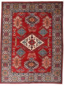 Kazak Teppich 152X198 Echter Orientalischer Handgeknüpfter Dunkelrot/Dunkelbraun (Wolle, Afghanistan)