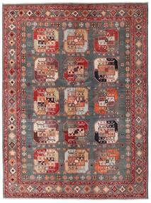 Kazak Teppich  152X202 Echter Orientalischer Handgeknüpfter Dunkelrot/Braun (Wolle, Afghanistan)