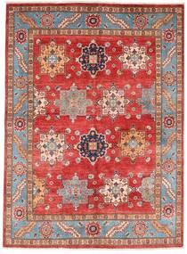 Kazak Teppich 151X206 Echter Orientalischer Handgeknüpfter Dunkelrot/Rost/Rot (Wolle, Afghanistan)