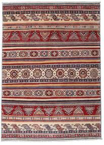 Kazak Teppich 116X160 Echter Orientalischer Handgeknüpfter Dunkelrot/Dunkelbraun (Wolle, Afghanistan)
