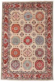 Kazak Teppich  118X179 Echter Orientalischer Handgeknüpfter Dunkelbraun/Hellgrau (Wolle, Afghanistan)