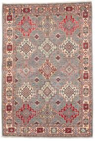 Kazak Teppich  121X177 Echter Orientalischer Handgeknüpfter Hellgrau/Dunkelrot (Wolle, Afghanistan)
