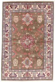 Kazak Teppich  119X179 Echter Orientalischer Handgeknüpfter Braun/Hellgrau (Wolle, Afghanistan)