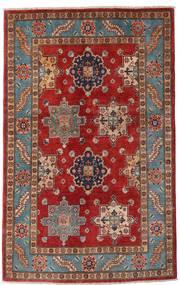 Kazak Teppich  118X188 Echter Orientalischer Handgeknüpfter Dunkelrot/Dunkelbraun (Wolle, Afghanistan)