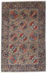 Kazak Teppich 115X182 Echter Orientalischer Handgeknüpfter Hellgrau/Dunkelbraun (Wolle, Afghanistan)