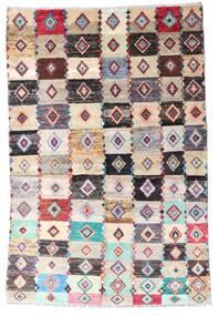 Moroccan Berber - Afghanistan Teppich  137X204 Echter Moderner Handgeknüpfter Beige/Hellgrau (Wolle, Afghanistan)