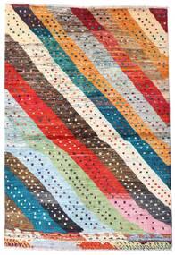 Moroccan Berber - Afghanistan Teppich  141X208 Echter Moderner Handgeknüpfter Dunkelgrau/Orange (Wolle, Afghanistan)