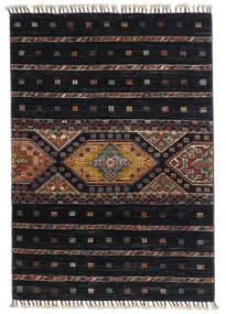 Shabargan Teppich  87X124 Echter Moderner Handgeknüpfter Schwartz/Dunkelgrau (Wolle, Afghanistan)