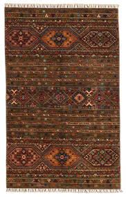 Shabargan Teppich  117X187 Echter Moderner Handgeknüpfter Dunkelbraun/Braun (Wolle, Afghanistan)