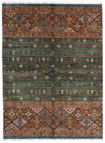 Shabargan Teppich  180X240 Echter Moderner Handgeknüpfter Schwartz/Dunkelgrün (Wolle, Afghanistan)
