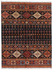 Shabargan Teppich  175X226 Echter Moderner Handgeknüpfter Schwartz/Dunkelrot (Wolle, Afghanistan)