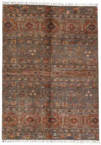 Shabargan Teppich  167X231 Echter Moderner Handgeknüpfter Dunkelbraun/Braun (Wolle, Afghanistan)